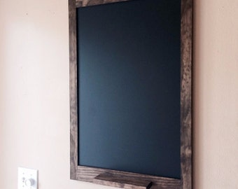 24x16 Chalkboard with Shelf and Pegs