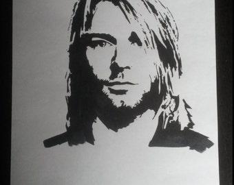 Kurt Cobain Drawing Black/white
