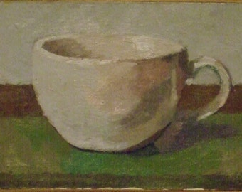 1  Cup.Oil painting on board