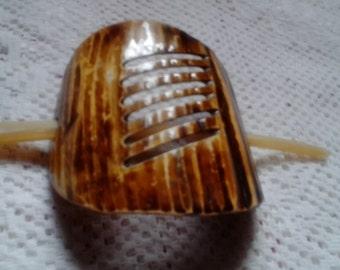 Lovely hair clip, made from fruit Kernel