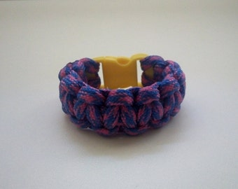 Survival bracelet ''Little Adventurer'' project Cobra with 3/8'' buckle-Small size suitable for children