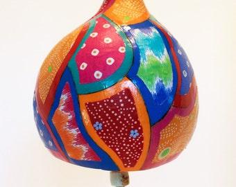 Patchwork Design Gourd Windchime