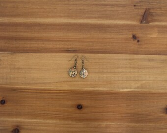 Gemstone Dangle Earrings, Picasso Jasper Dangle Earrings, Jasper Drop Earrings, Natural Stone Earrings, Boho Drop Earrings, Hippie Earrings