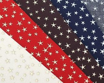 Star Felt, Thick Felt, Star Pattern Felt Sheets, Silver felt, 45cm x 36cm , 6 colors available