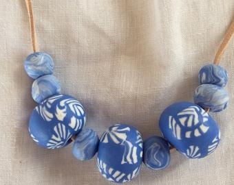Periwinkle blue necklace