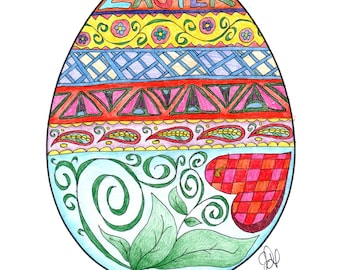 Egg Coloring Page!