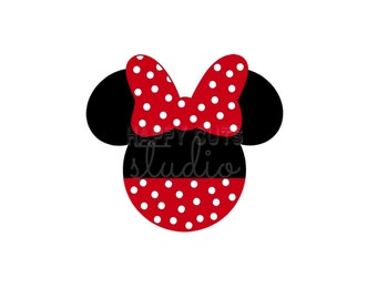 Personalized Polka Dot Minnie Mouse with Bow Cheer Team Matching Family Disney Iron On Decal Vinyl for Shirt Fish Extender  044