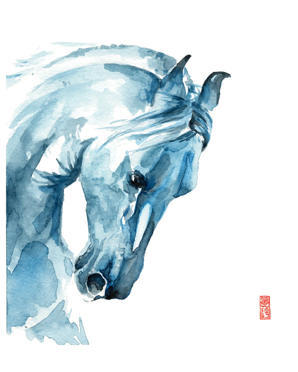 how to draw a mustang horse head