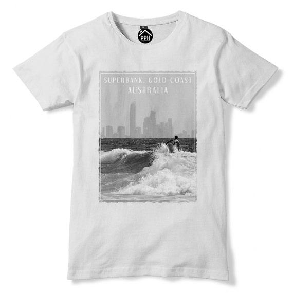 Superbank Gold Coast Australia Tshirt Surf Mens Top Famous
