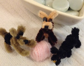 Handmade Cute Pipe Cleaner Puppies