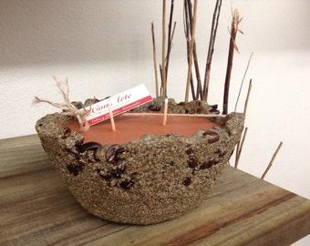 Sand and Coffee Artisan Candle