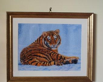 Siberian tiger cross stitch