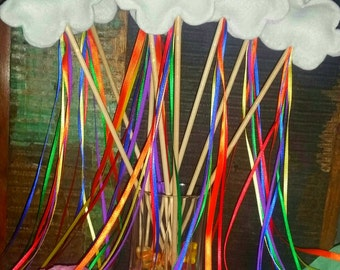 5 Rainbow Party Favor Wands