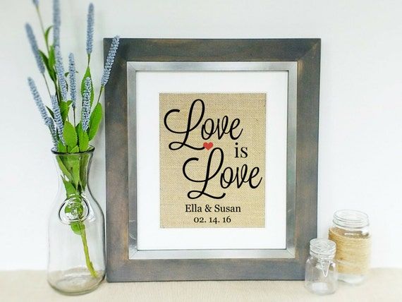 Same Sex Wedding Gift Ideas: LOVE Is LOVE Engagement Wedding Gift Idea Same Sex Marriage