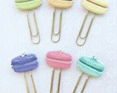 Paper clip macaron macaroon gold 1pcs  planner accessories supplies / pocket letter and snail mail goodies