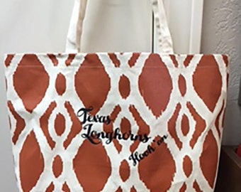 University of Texas Longhorn Canvas Tote Bag
