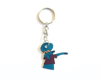 Squidward Dab Inspired Keychain