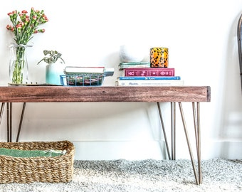 Coffee Table / Hairpin Legs - Walnut Stain