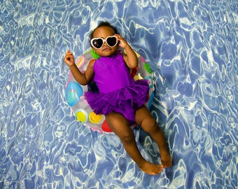 Tranquil Pool Summer Photography Backdrop (WTR-TS-001)