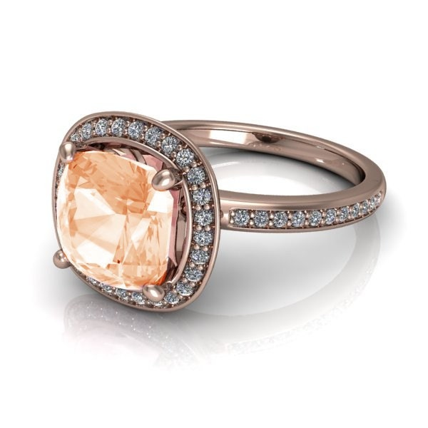 Engagement Ring Memorial Day Sale: Boxing Day Sale Morganite Engagement Ring 1.75 Carat