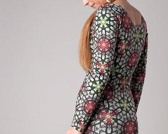 Unique, Sublimation Printed, Bodycon Dress