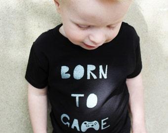 Gamer T-shirt, Baby Video Gamer T, Born to Game