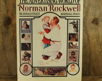 Vintage Book, The Advertising World Of Norman Rockwell, 1984, Rare Old Book, Hardcover Book