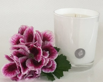 Geranium Leaf Scented Soy Wax Candle.