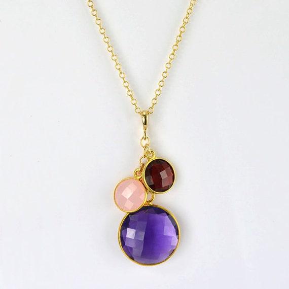 custom mothers necklace birthstone mother daughter necklace. Black Bedroom Furniture Sets. Home Design Ideas