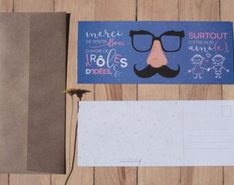 Carte Postale_Etre mon ami(e) | Carte | Impression | Amitié | Ami | Merci | Postal card | Card | Print | Friends | friendship | thanks
