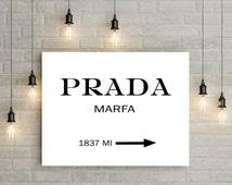 articles uniques correspondant prada marfa etsy. Black Bedroom Furniture Sets. Home Design Ideas