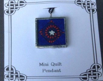 Mini Quilt Necklace