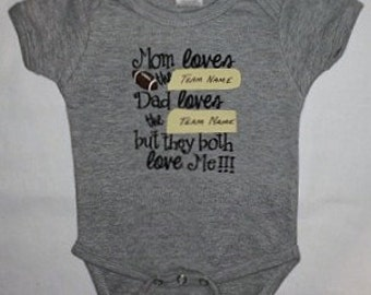 Baby Divided custom appliqued bodysuit