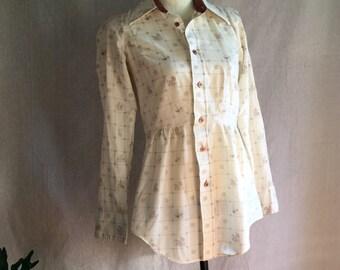 Vintage Repurposed 70's peplum blouse