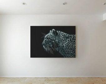 Tiger in dark  - Canvas decor