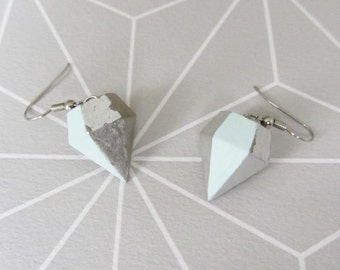 Concrete diamond * new summer earrings *.