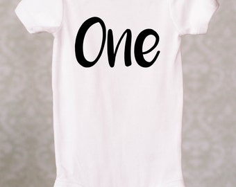 1st Birthday Outfit One Onesie Baby Onesie