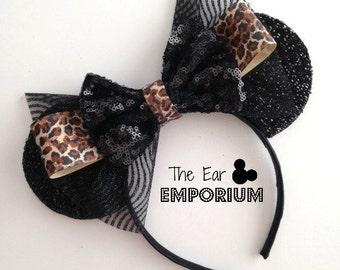 Leopard Print Mouse Ears Headband