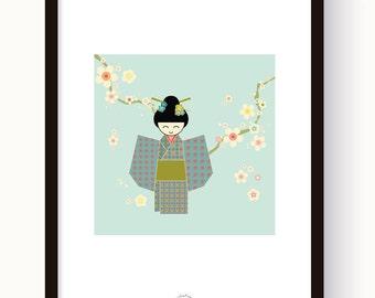 "Poster/Poster - original illustration ""Youjo"" of Japanese-inspired"