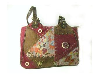 Boho handbag -Gypsy handbag - fabric handbag - Bohemian handbag - hippy bag - women's accessories - # 6