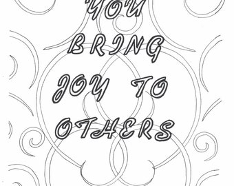 You bring joy to others coloring page