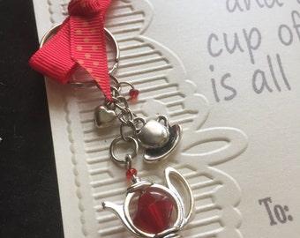 Tea Cup Key Ring