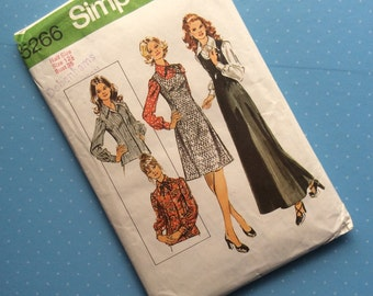 """Vintage Sewing Pattern - Simplicity 5266 - Retro 1972 Dressmaking Pattern - Size 12 Bust 35"""" Sewing"""