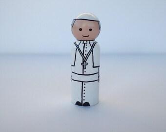 Pope Francis Peg Doll