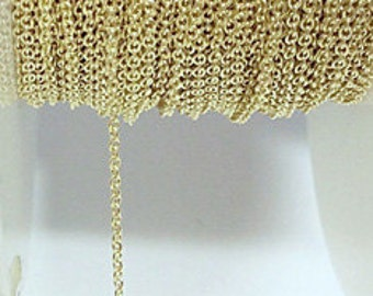 Gold Filled Cable Chain 1.1X1.5MM By Foot 507107