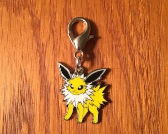 Pokemon Jolteon zipper charm with key ring, Pokemon charm, Jolteon charm, Jolteon zipper charm, Anime charm, Anime zipper charm