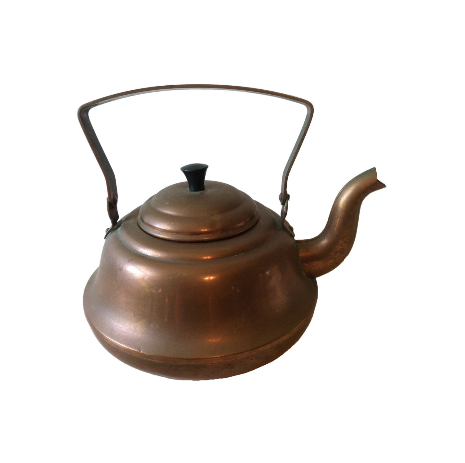 retro tea kettle vintage tea kettle small copper tea kettle by sunflowerretroks 1949