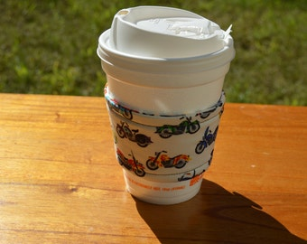 Motorcycle Coffee Cup Cozy
