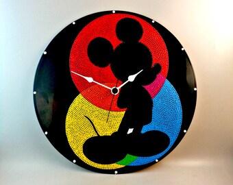 Mickey, Wall clock, Vinyl clock, Disney clock, Disney, Mickey art, Mickey Mouse, Wall art, Kids decor, Home Decor, MiniDotClocks