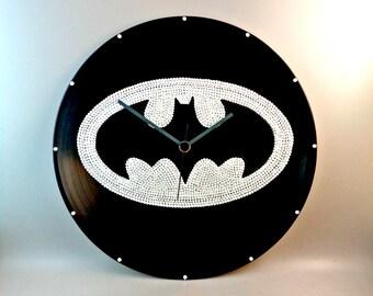 Batman logo, Wall clock, Vinyl clock, Superhero clock, Wall art, Marvel art, Batman art, Home Decor, MiniDotClocks